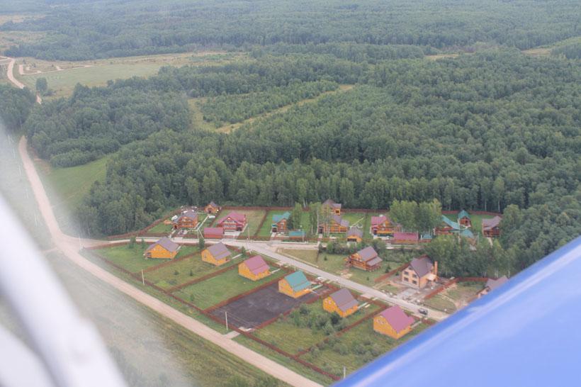 Ландшафт вокруг поселка Дарьино